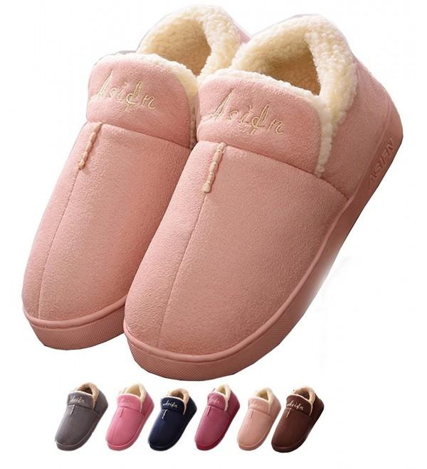 1f7350d5c25 Indoor Home Men Slippers House Women Cozy Memory Foam Warm Snti Skid ...