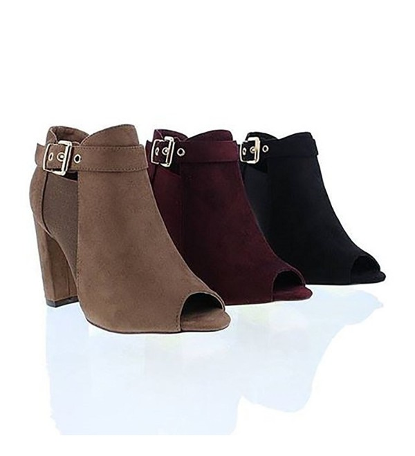 Liliana Melinsa Womens Stacked Booties