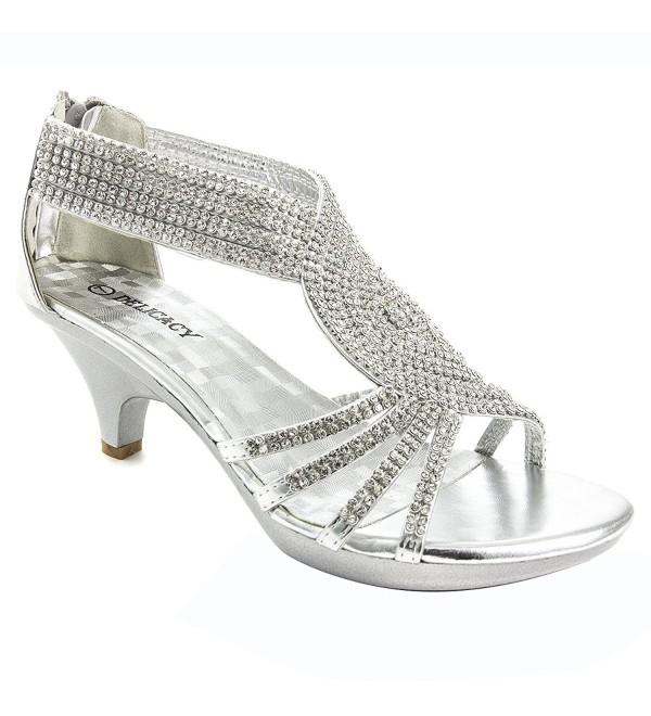 7eeed1e9d24eda ... Womens Open Toe Med Heel Wedding Sandal Shoes - Silver - C711MWRH0XV.  On sale! New. V Luxury Womens 32 ANGEL37 Wedding Sandal