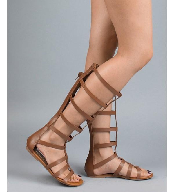 Fashion Strappy Gladiator Sandals Darktan