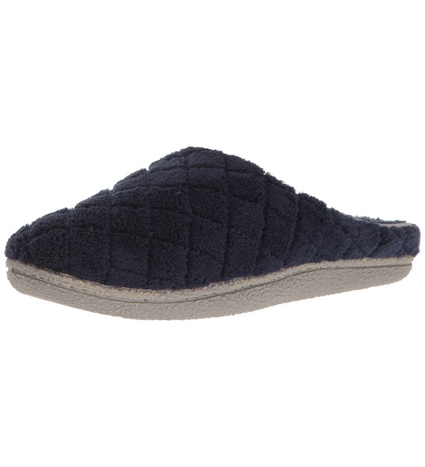 Dearfoams Womens Quilted Terry Slipper