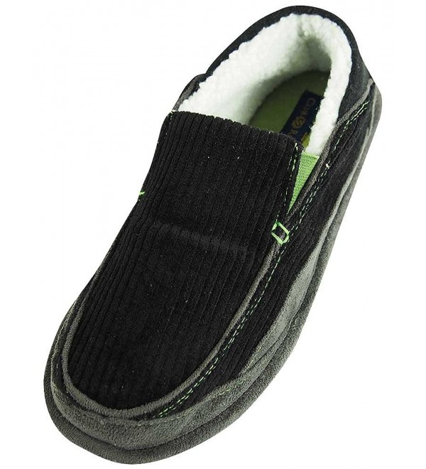 Club Room Slipper Black 37266 XX Large