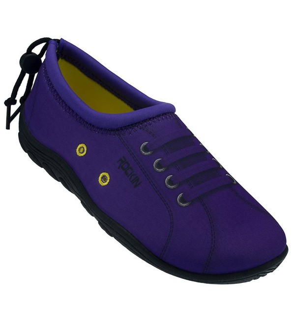 Rockin Footwear Womens Sneaks Purple