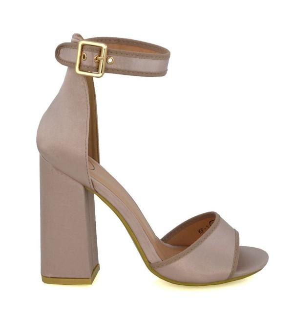 Essex Womens Champagne Satin Sandals
