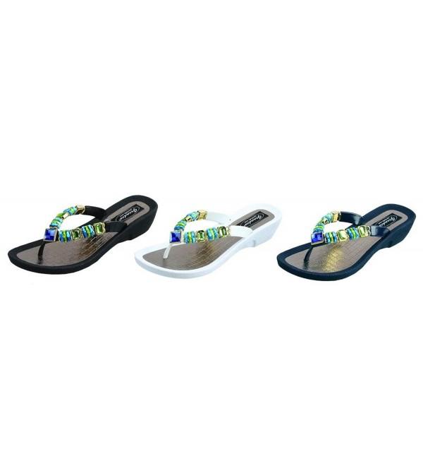26801P Grandco Thong Black Sandal