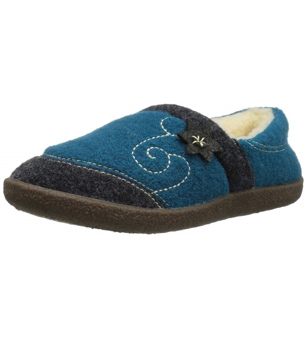 Womens Edelweiss Slipper Moccasin Turquoise