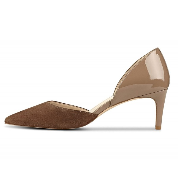 Sammitop Womens Mid heel Cut outs Pointed