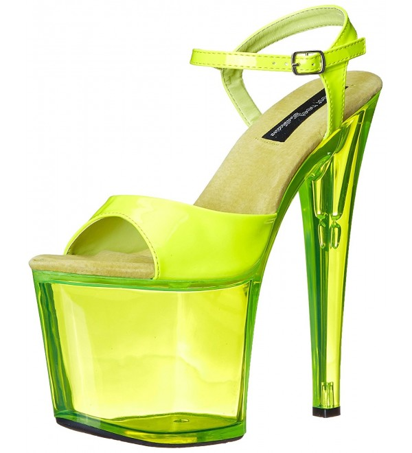 375122699 Women's Fantasy-101 6 Inch Platform Sandal - Neon Yellow - CY11COTZXMR
