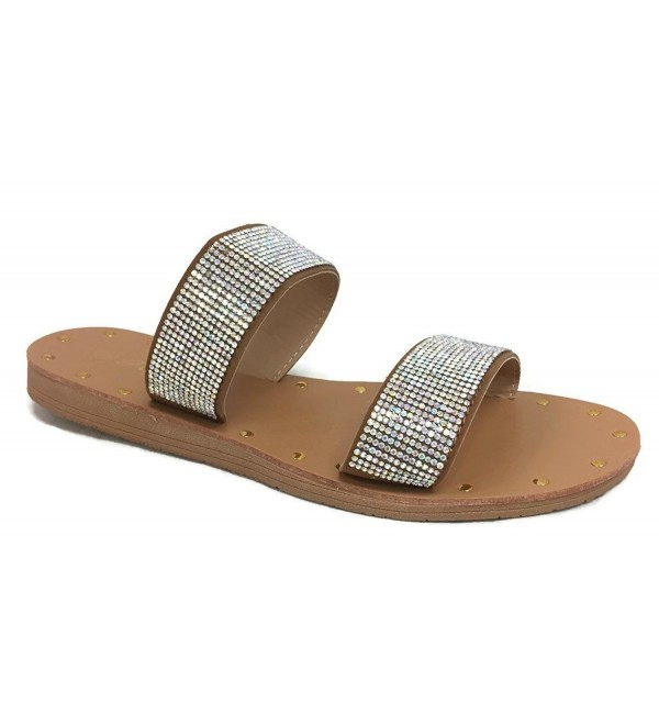 Collection Womens Double Sandal Crystal