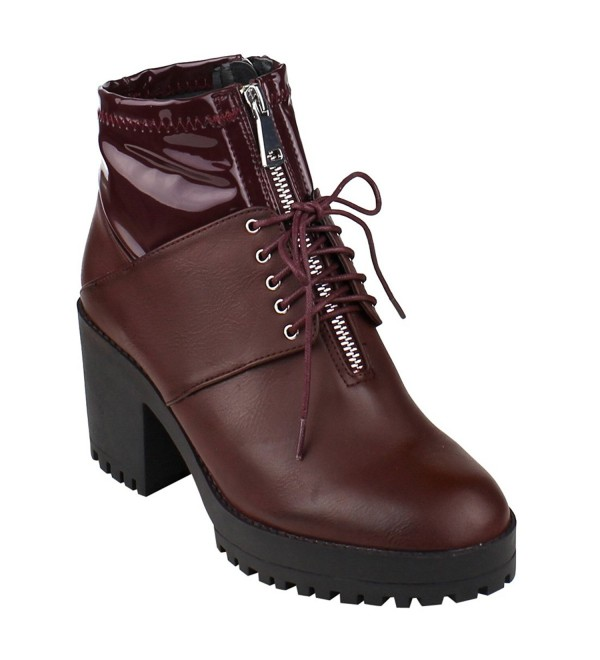 Beston Womens Zippers Front Booties