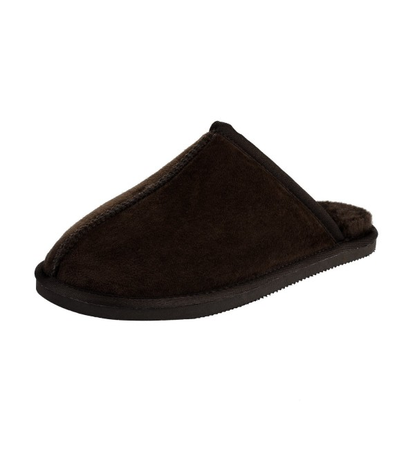 CLPPLI Mens Slip Slippers Brown