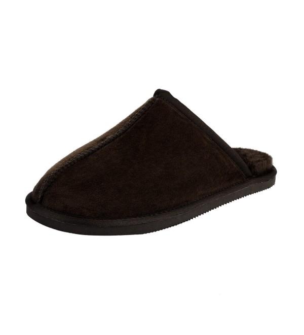 CLPPLI Mens Slip Slippers Brown