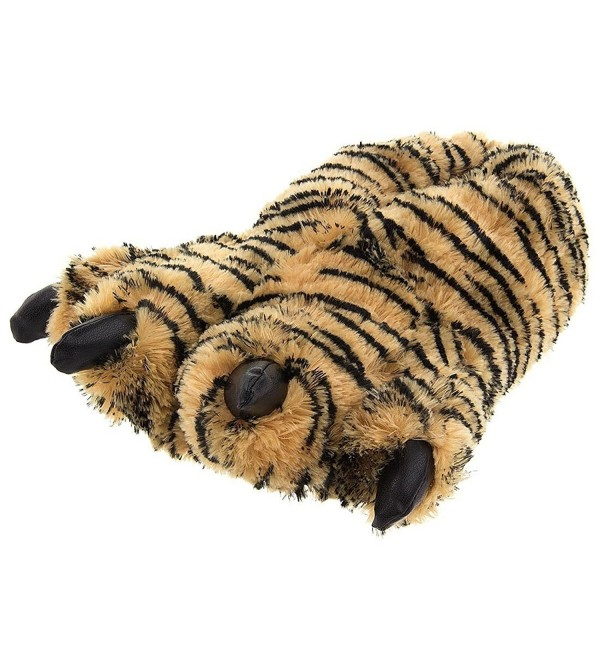 Wishpets Large Brown Tiger Slippers