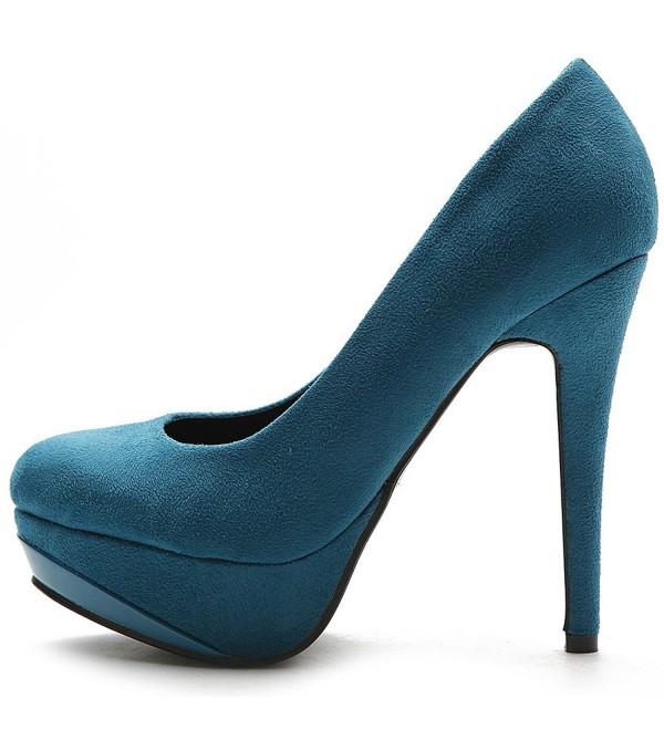 Ollio Platform Classic Stiletto Turquoise