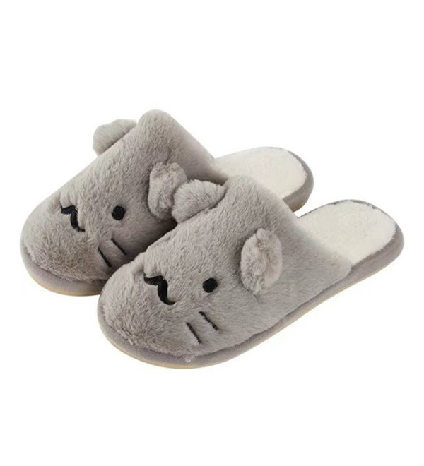 MiYang Winter Slippers Animal Shoes grey