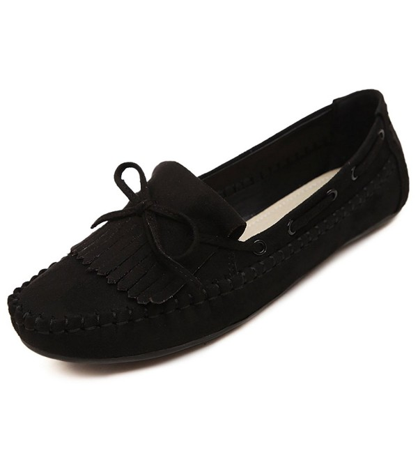 BXDE Womens Genuine Leather Flats