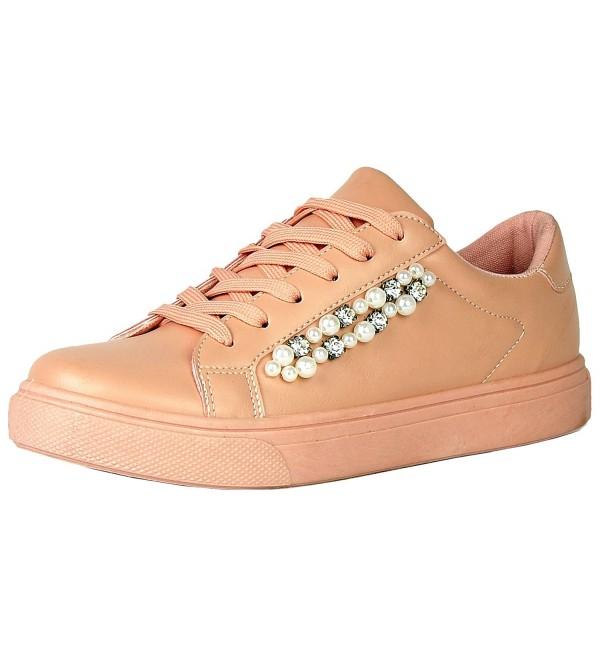 Refresh Footwear Crystal Lace Up Flatform