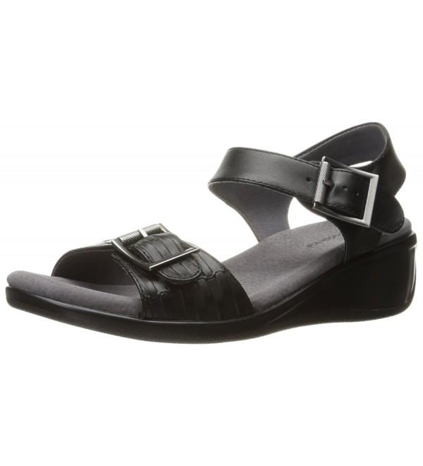 Trotters Womens Wedge Sandal Black