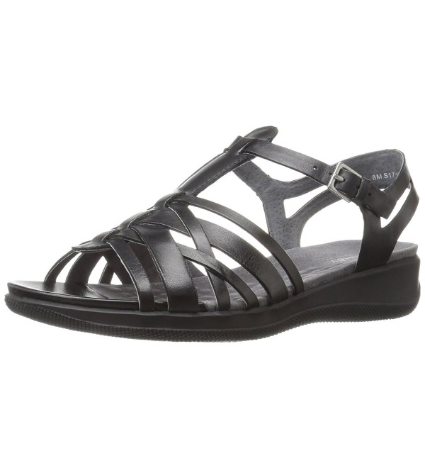 SoftWalk Womens Wedge Sandal Black