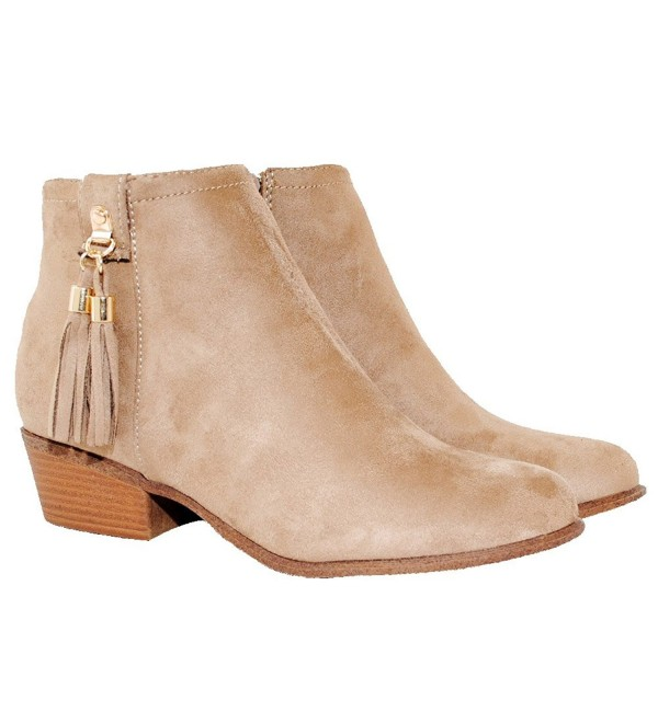 Womens Western Inside Stacked Booties