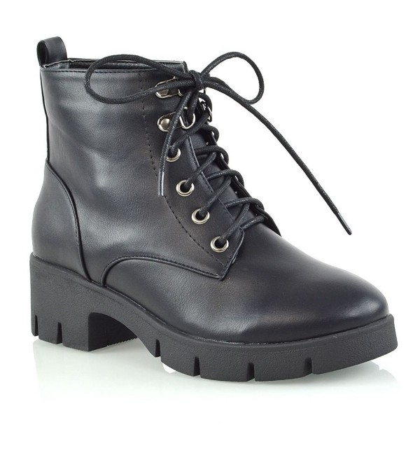 Womens Synthetic Leather Platform Ladies