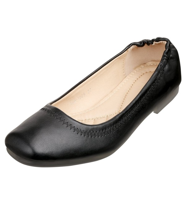 SANMIO Womens Ballet Comfortable Leather