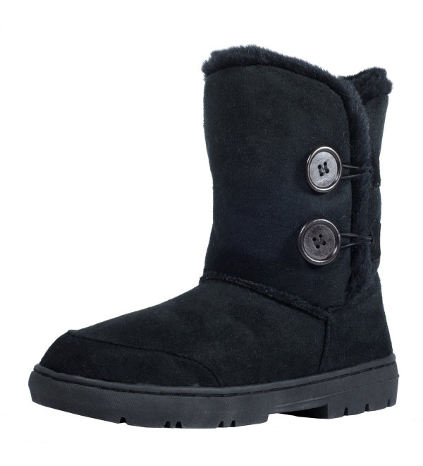 CLPPLI Button Waterproof Winter Boots Black 9