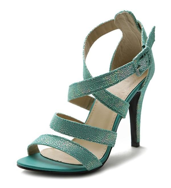 Ollio Womens Cross Strap Sandal
