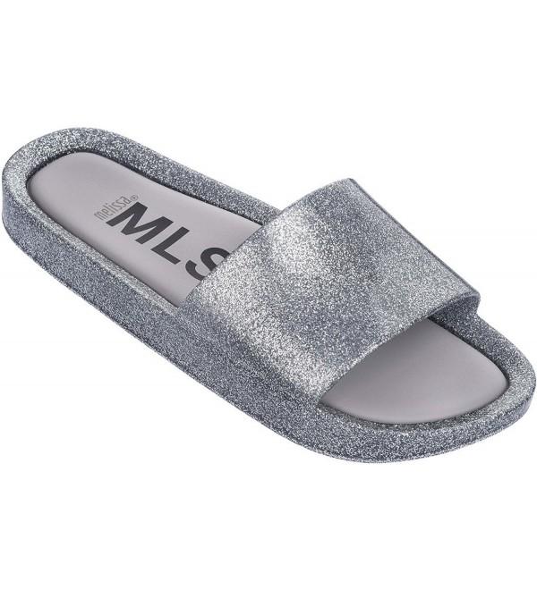 Melissa Womens Sandal Silver Glitter