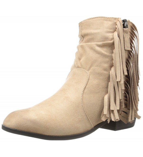 Qupid Womens Static Boot Taupe