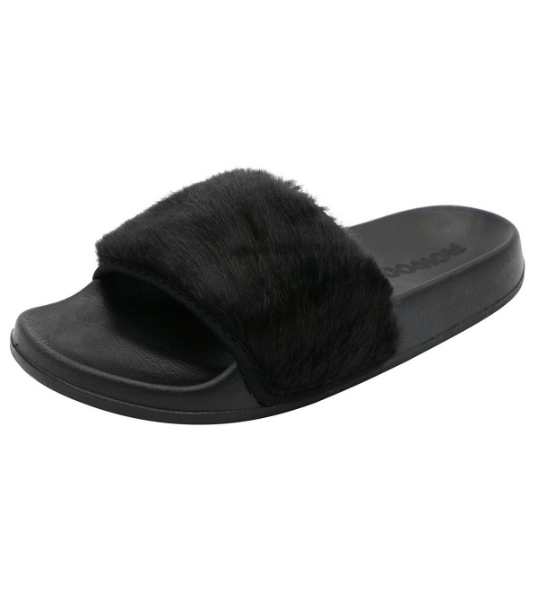 ROWOO Women Slipper Sandals Black