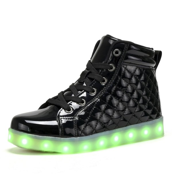 COODO Charging Flashing Sneakers BLACK 10