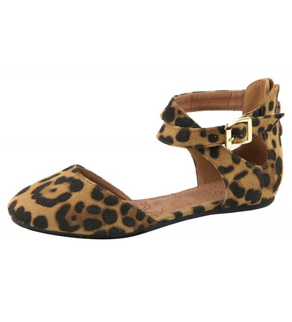 Lovmark Womens Crisscross DOrsay Leopard