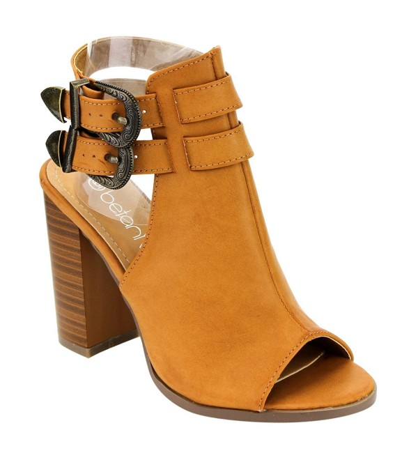 BETANI EI11 Womens Stacked Booties