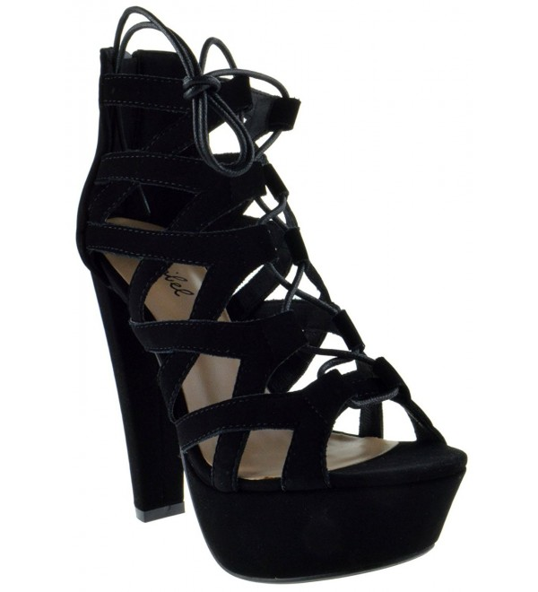 Emillie Peep Strappy Pumps Black