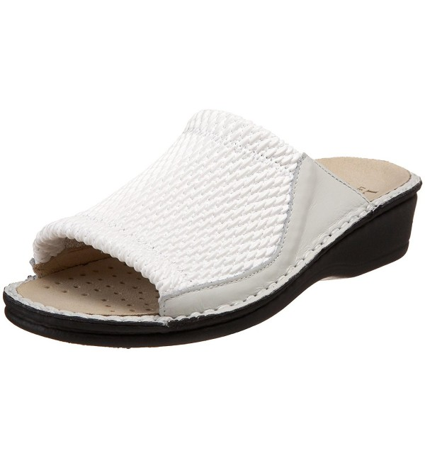 Plume Womens Stretch Slide White