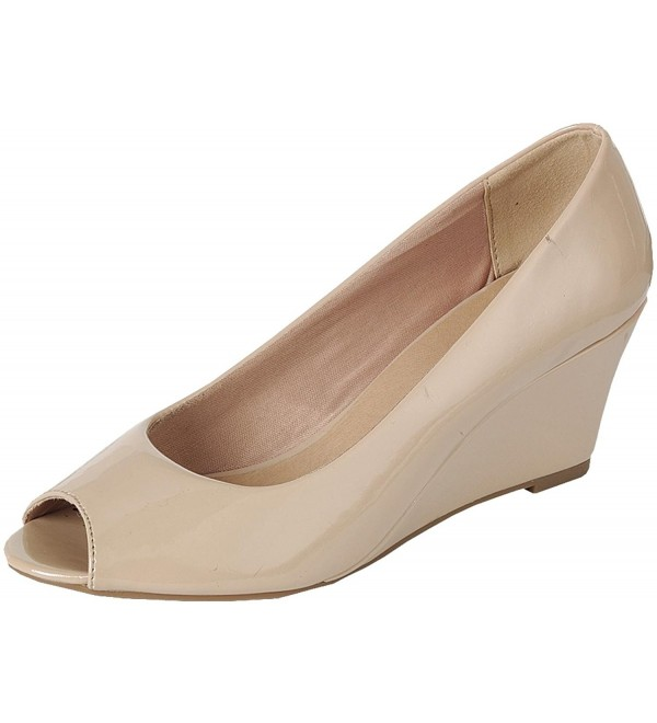 Forever Link Womens Patent Wedge