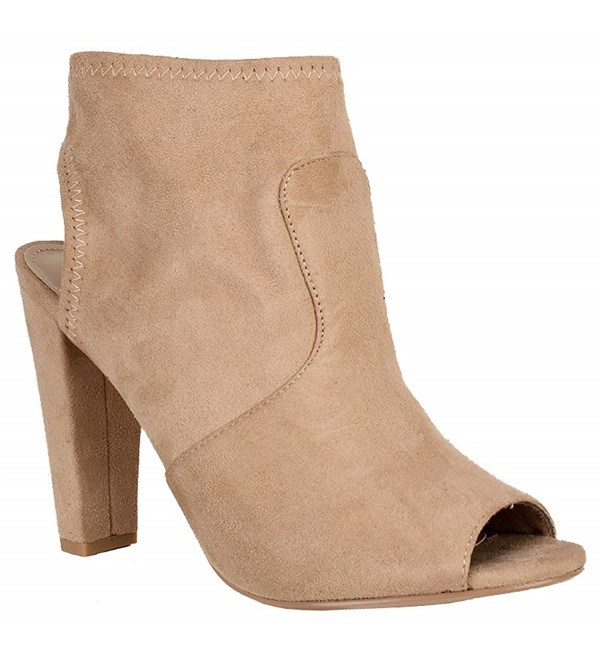 LUSTHAVE Womens Chunky Stacked Booties