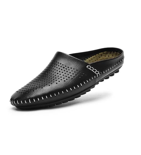 V J Breathable Leather Slippers KS805 HE46 12