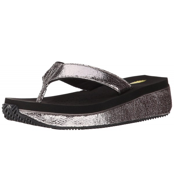 Volatile Womens Kelby Sandal Pewter