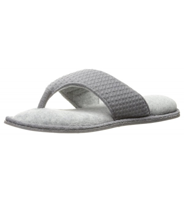 Dearfoams Womens Textured Slipper Medium