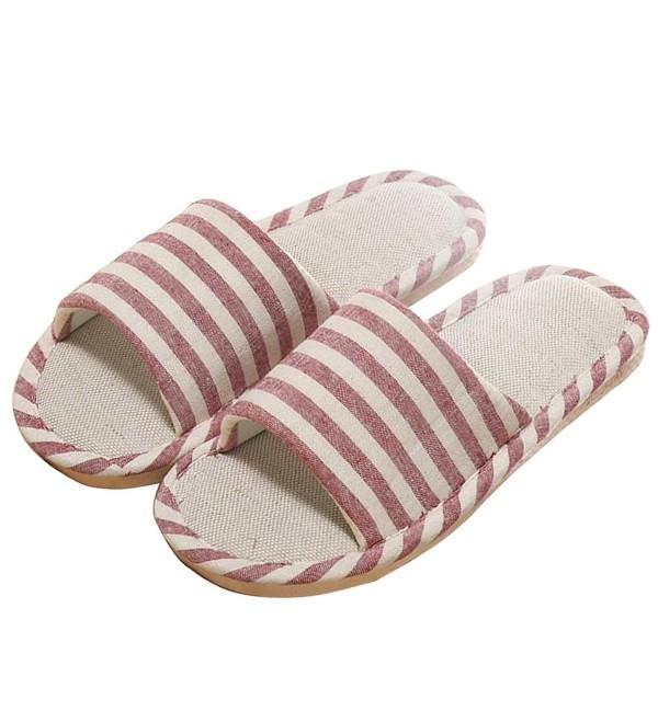 Slduv7 Women Stripe Slippers Indoor