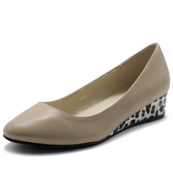 Ollio Womens Ballet Comfort Leopard