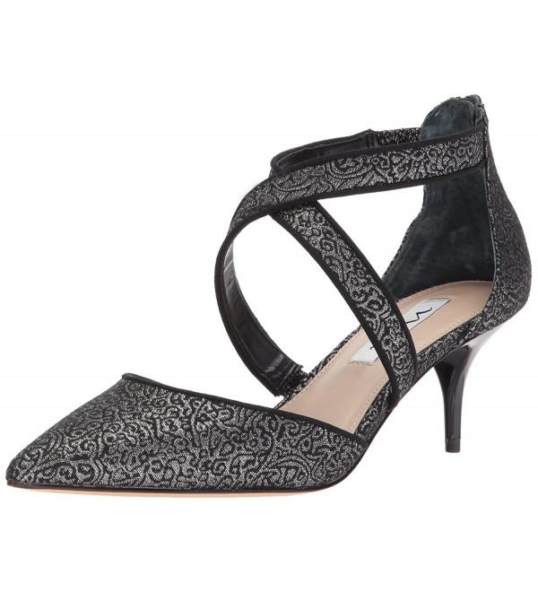 Nina Womens Tristen Dress Black Silver