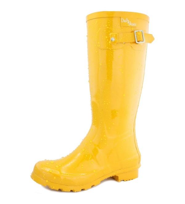 DailyShoes Womens Hunter Round Rainboots