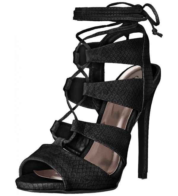 Qupid Womens Dress Sandal Black