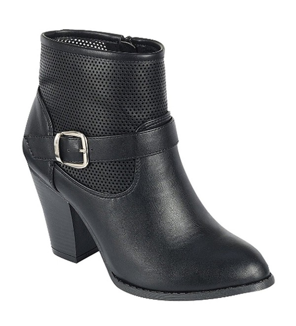 Coshare Fashion Leather Strappy Booties