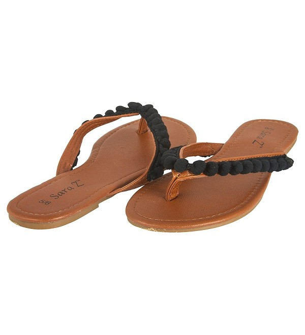 Chatties Ladies Thong Sandal Black