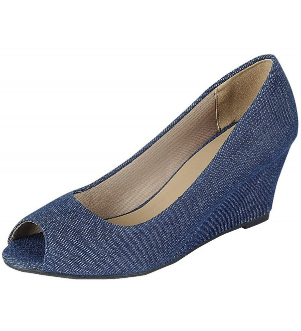 Forever Link Womens Wedge Denim