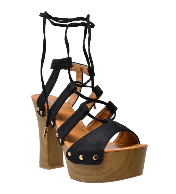 SOBEYO Womens Platform Sandals Studded